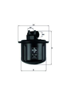 Original ROVER Benzinfilter KL 108