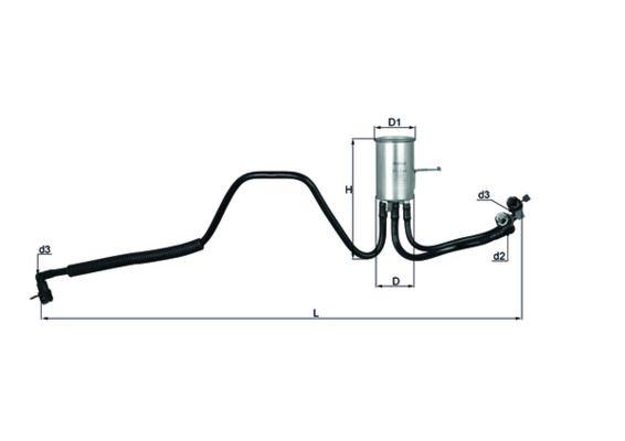 CHRYSLER Filtre à carburant d'Origine KL 544
