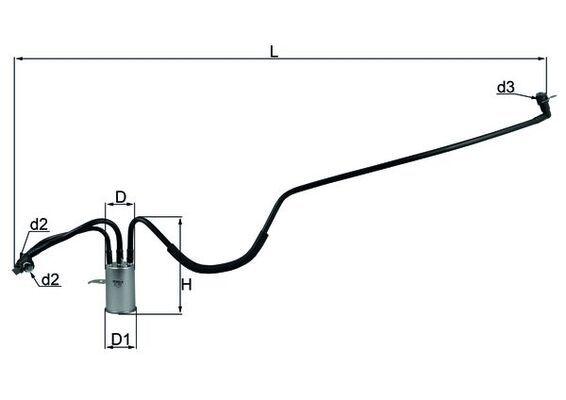 CHRYSLER Filtre à carburant d'Origine KL 553
