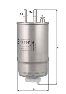 KL 567 Brandstoffilter MAHLE ORIGINAL - Goedkope merkproducten