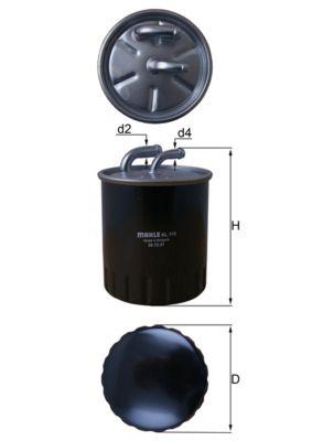KL 313 Filtre à carburant MAHLE ORIGINAL - Produits de marque bon marché