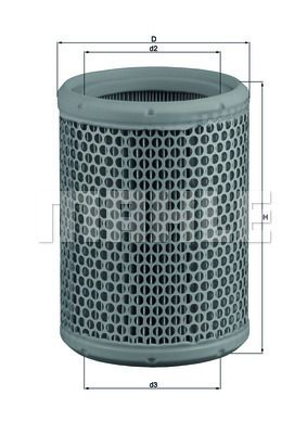Achetez Filtre à air MAHLE ORIGINAL LX 130 (Hauteur: 176mm) à un rapport qualité-prix exceptionnel