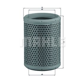 77052079 MAHLE ORIGINAL Filtereinsatz Höhe: 175,5mm Luftfilter LX 130 günstig kaufen