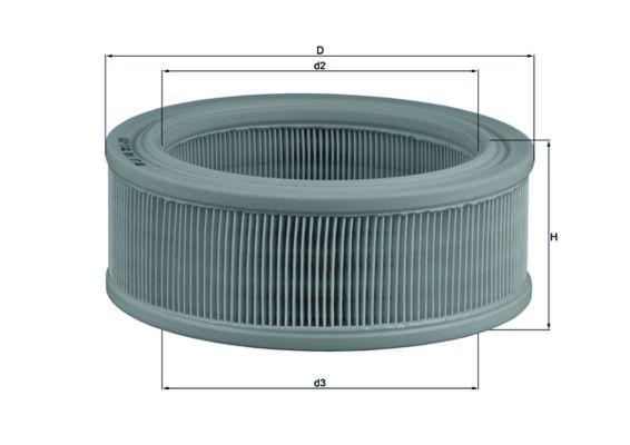 Achetez Filtre à air MAHLE ORIGINAL LX 140 (Hauteur: 78mm) à un rapport qualité-prix exceptionnel