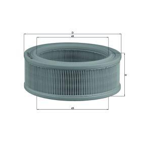 77716756 MAHLE ORIGINAL Filtereinsatz Höhe: 77,5mm Luftfilter LX 140 günstig kaufen
