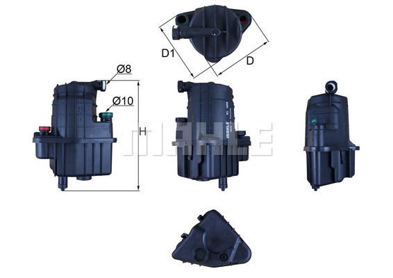 Kraftstofffilter KL 469 von MAHLE ORIGINAL