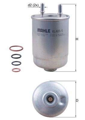 KL4855D Leitungsfilter MAHLE ORIGINAL 70514316 - Große Auswahl - stark reduziert