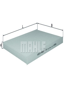 Въздушен филтър LX 791 с добро MAHLE ORIGINAL съотношение цена-качество