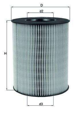 Въздушен филтър LX 794 с добро MAHLE ORIGINAL съотношение цена-качество