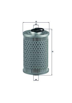 MAHLE ORIGINAL Brandstoffilter KX 35