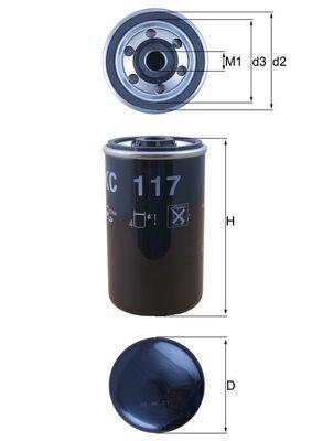 MAHLE ORIGINAL Palivovy filtr KC 117 - nakupujte s 33% slevou