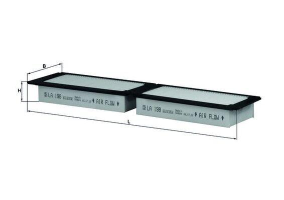 MAHLE ORIGINAL Filter, interior air for IVECO - item number: LA 198