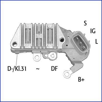 HITACHI: Original Generatorregler 132890 (Nennspannung: 14V)