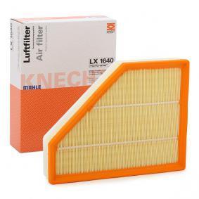 MAHLE ORIGINAL Cartucho filtrante Comprimento total: 299,6mm, Largura: 234,0mm, Altura: 70,3mm Filtro de ar LX 1640 comprar económica