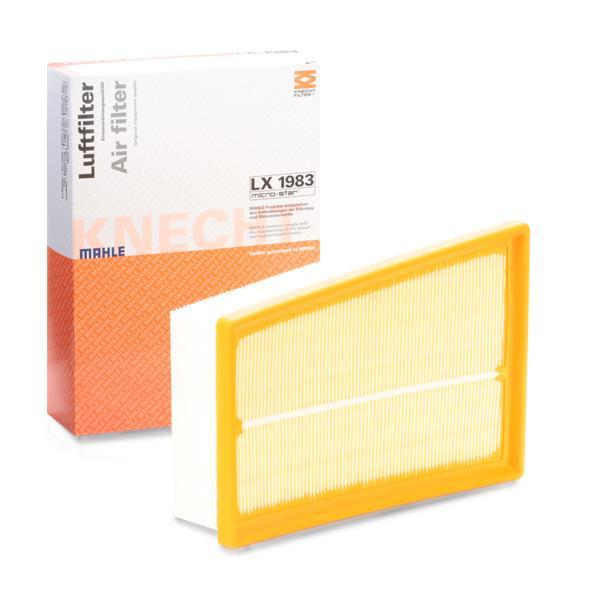 MAHLE ORIGINAL: Original Luftfilter LX 1983 (Länge über Alles: 232,0mm, Länge: 163,0mm, Breite: 163, 163,0mm, Höhe: 57mm)