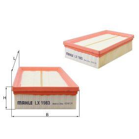 LX 1983 Luftfilter MAHLE ORIGINAL in Original Qualität