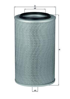 MAHLE ORIGINAL: Original Motorluftfilter LX 227 (Höhe: 382mm)