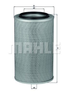 MAHLE ORIGINAL Filtr powietrza do RENAULT TRUCKS - numer produktu: LX 227