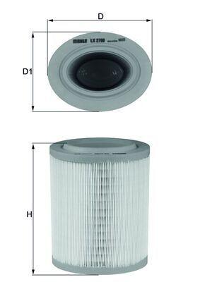 LX2790 Légszűrő MAHLE ORIGINAL - Tapasztalja meg engedményes árainkat