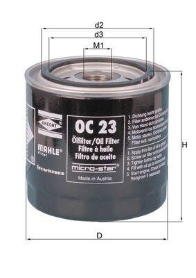 Ölfilter MAHLE ORIGINAL OC 23 OF