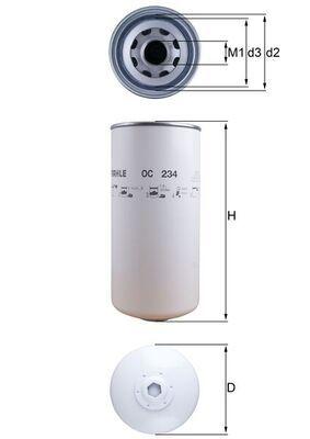 OC 234 MAHLE ORIGINAL Ölfilter für DAF 95 jetzt kaufen