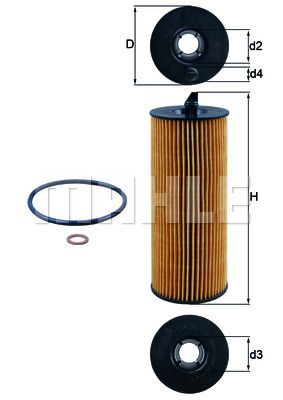 OX 361/4D Filter MAHLE ORIGINAL - Markenprodukte billig