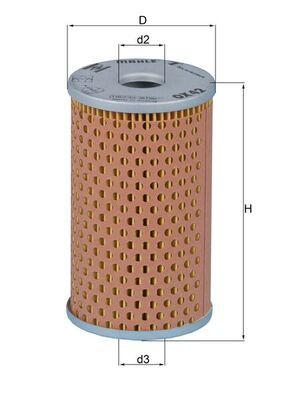 Comprare 71307065 MAHLE ORIGINAL Filtro idraulico, Sterzo OX 42 poco costoso