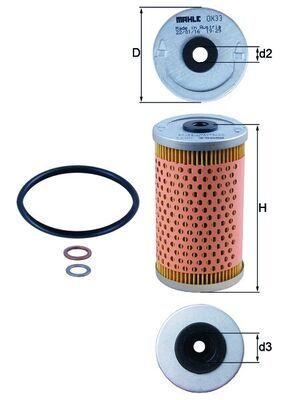 MAHLE ORIGINAL Filtro olio OX 33D
