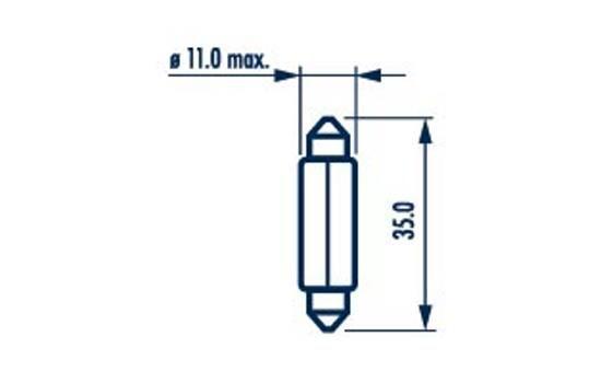 OE Original Glühlampe Kennzeichenbeleuchtung 17136 NARVA