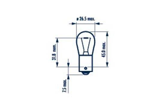 Glühlampe, Blinkleuchte 17635 von NARVA