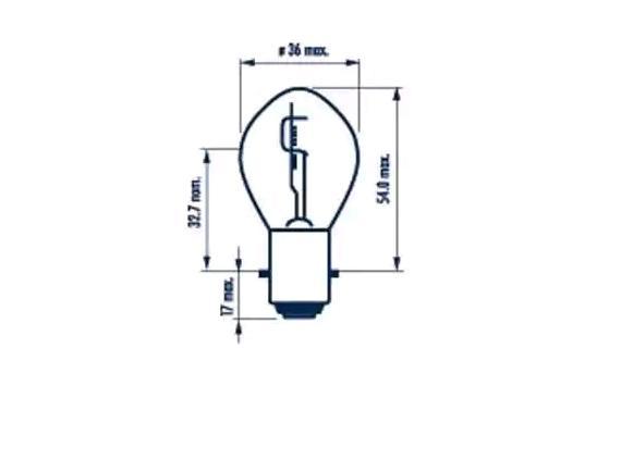 Glühlampe, Hauptscheinwerfer NARVA 49531 YBR YAMAHA