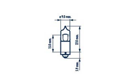 Крушка с нагреваема жичка, задни светлини 68161 за FORD COUGAR на ниска цена — купете сега!