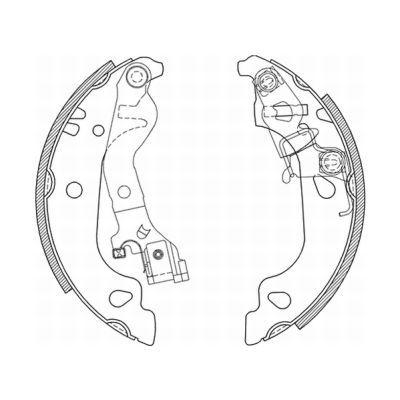 Original FIAT Bremsbackensatz C0F018ABE
