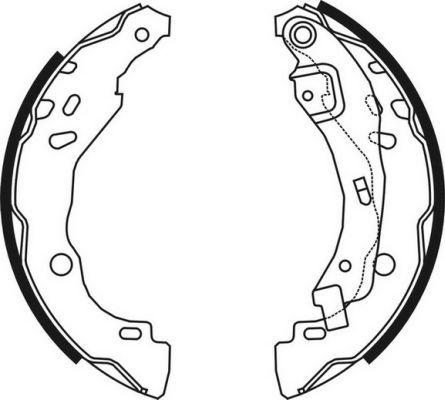 OE Original Bremsklötze für Trommelbremse C0R023ABE ABE