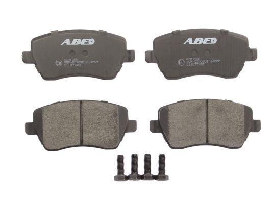 C11077ABE ABE Vorderachse Höhe: 52,1mm, Breite: 116,2mm, Dicke/Stärke: 17,3mm Bremsbelagsatz, Scheibenbremse C11077ABE günstig kaufen