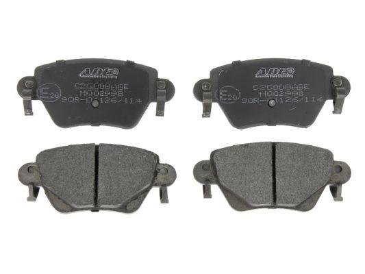 C2G008ABE ABE Hinterachse, mit akustischer Verschleißwarnung Höhe: 51,9mm, Breite: 115,9mm, Dicke/Stärke: 16,8mm Bremsbelagsatz, Scheibenbremse C2G008ABE günstig kaufen