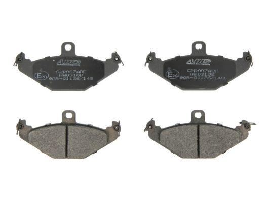 ABE Kit de plaquettes de frein, frein à disque C2R007ABE
