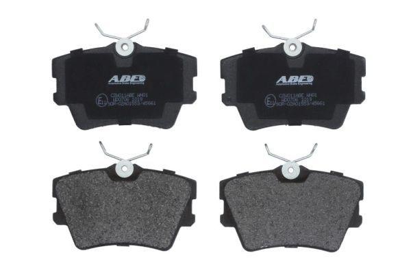 C2W011ABE ABE Hinterachse, nicht für Verschleißwarnanzeiger vorbereitet Höhe: 51mm, Breite: 94,9mm, Dicke/Stärke: 16,2mm Bremsbelagsatz, Scheibenbremse C2W011ABE günstig kaufen