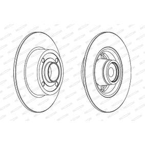 DDF15711 FERODO PREMIER Voll, mit ABS-Sensorring, mit Radlager Ø: 240mm, Lochanzahl: 4, Bremsscheibendicke: 8mm Bremsscheibe DDF1571 günstig kaufen