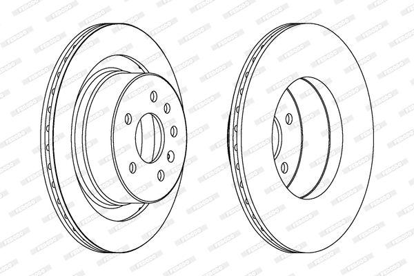 DDF16041 FERODO PREMIER belüftet, ohne Schrauben Ø: 300mm, Lochanzahl: 5, Bremsscheibendicke: 20mm Bremsscheibe DDF1604 günstig kaufen