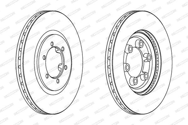 DDF16051 FERODO PREMIER belüftet, ohne Schrauben Ø: 294mm, Lochanzahl: 6, Bremsscheibendicke: 26mm Bremsscheibe DDF1605 günstig kaufen