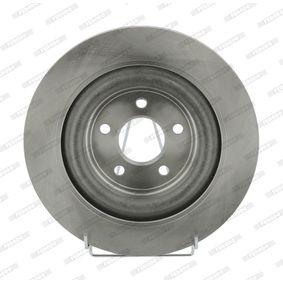 DDF17031 FERODO PREMIER belüftet, ohne Schrauben Ø: 326mm, Lochanzahl: 5, Bremsscheibendicke: 20mm Bremsscheibe DDF1703 günstig kaufen