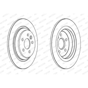 DDF17201 FERODO PREMIER Solid, utan skruvar Ø: 300mm, Hålant.: 5, Bromsskivetjocklek: 11mm Bromsskiva DDF1720 köp lågt pris
