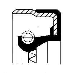 OPEL CORSA Verteilergetriebe Einzelteile - Original CORTECO 01035170B