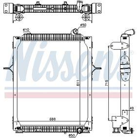 Kühler, Motorkühlung NISSENS 67206 mit 15% Rabatt kaufen