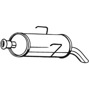 190-003 Endschalldämpfer BOSAL Test