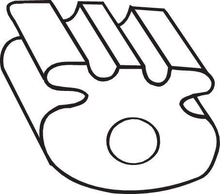 OPEL VECTRA 2004 Gummistreifen, Abgasanlage - Original BOSAL 255-837