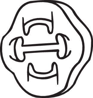 Volkswagen CRAFTER Rubber strip, exhaust system BOSAL 255-853: