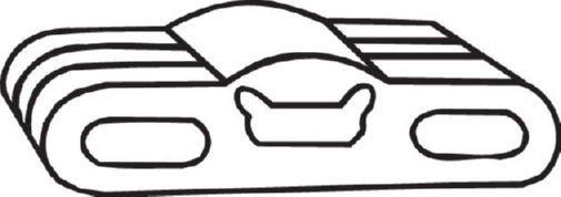 OPEL ASTRA 2015 Gummistreifen, Abgasanlage - Original BOSAL 255-911