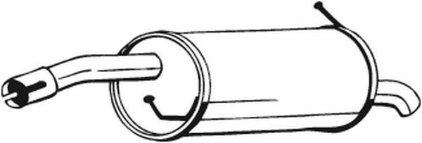 Endschalldämpfer BOSAL 154-203